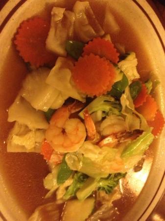 Thai Mango: shrimp stir fry