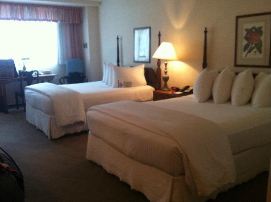 State Plaza Hotel: Ample space in bed room area