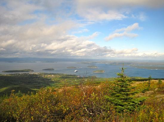 Snell House: View over Bar Harbor from Mt Champlain