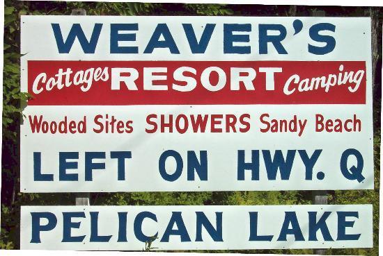 Weaver's Resort & Campground: Weaver's Resort sign