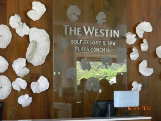 The Westin Golf Resort & Spa, Playa Conchal: Lobby Check In