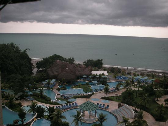 Sheraton Bijao Beach Resort: View from our balcony of a lovely cloud formation over the ocean