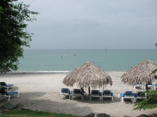 Sheraton Bijao Beach Resort: My favorite thatched cabanas looking out on the ocean