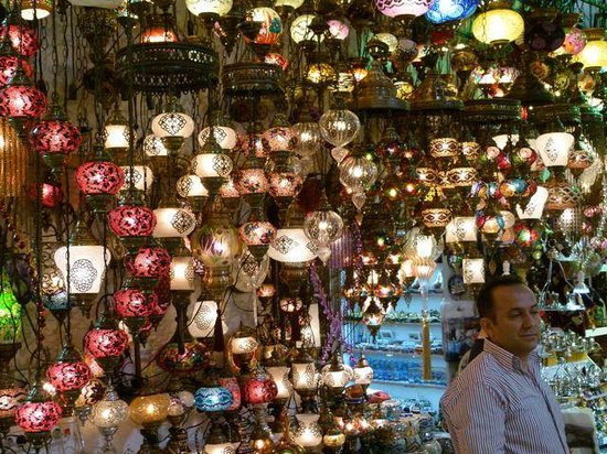 Turkey Travel Group: A colorful collection of pretty lamps and lights.