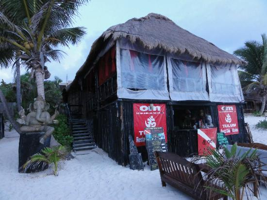 Om Tulum Hotel Cabanas and Beach Club: view from beach