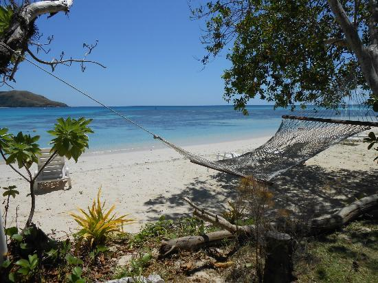 Oarsman's Bay Lodge: Hammock in front of the beachfront bures