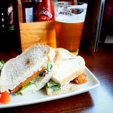 Fish Finger Sandwich. Made me feel like a nine year old all over again, but with beer.