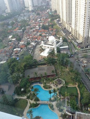 Shangri-La Hotel Jakarta: view from room