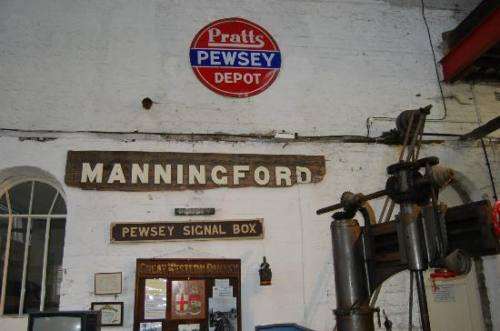 Pewsey Heritage Centre: Old station and signal box signs