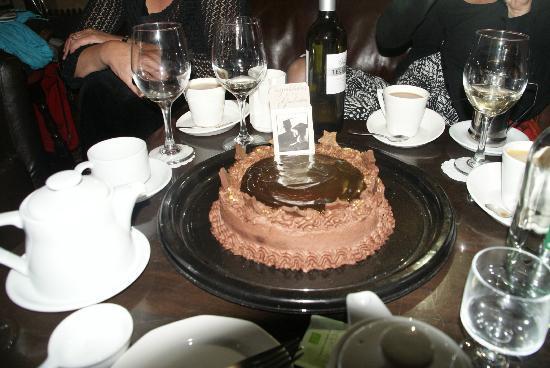 Battlesteads Hotel: Chocolate cake from Battlesteads' owner Dee: yum!