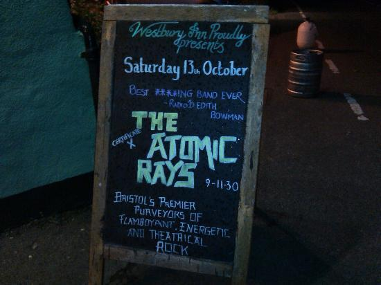The Westbury Inn Pub: Atomic Rays Board