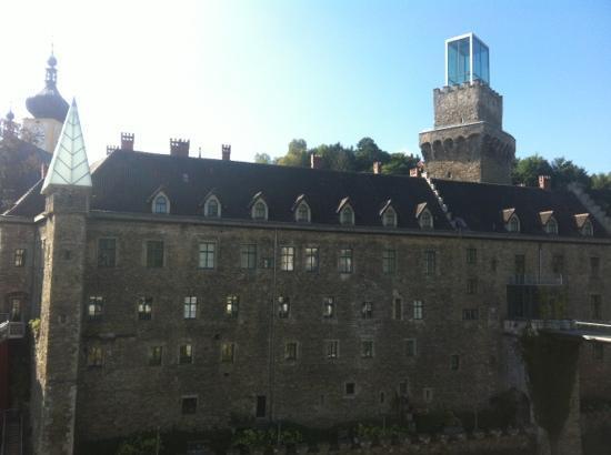Schloss an der Eisenstrasse : Ausblick von der Terrasse aus