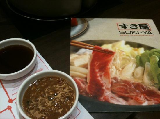 Suki-Ya : sauce n menu