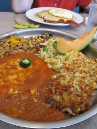 Peg's Glorified Ham n Eggs: Awesome huevos rancheros at Peg's in Reno
