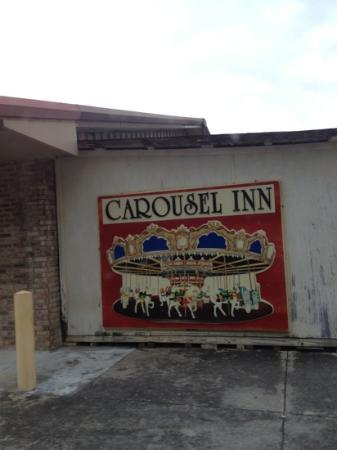 Carousel Inn: would look much better on the front of the bldg