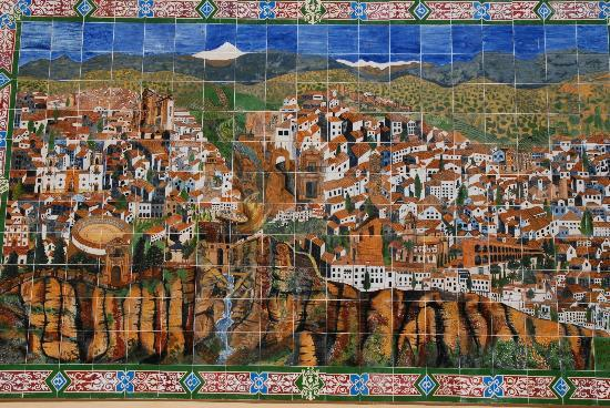Artwork Made with Tile near the street leading to Hotel Ronda
