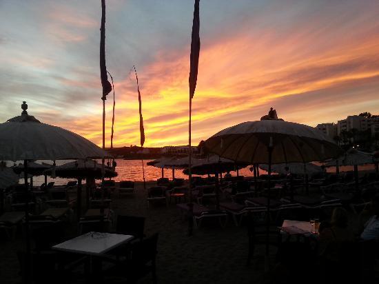 Havana Beach Chiringuito: Sunset
