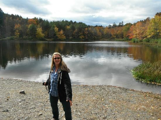 Pocono Environmental Education Center: First pond you'll see at PEEC