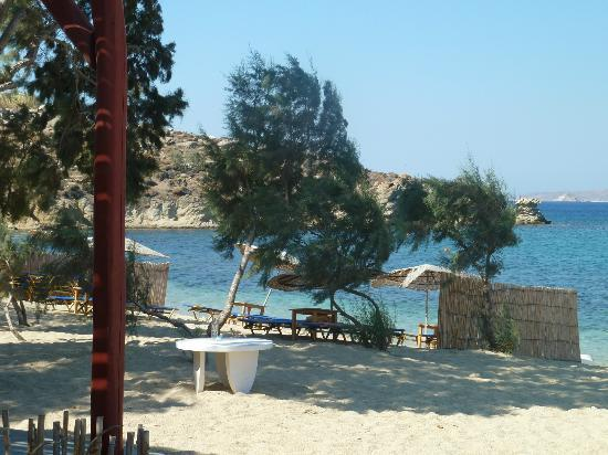 Agia Anna - Paraga Studios: Beach directly in front of studios