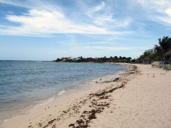 Playa Blanca Condominiums: Beach area looking south.