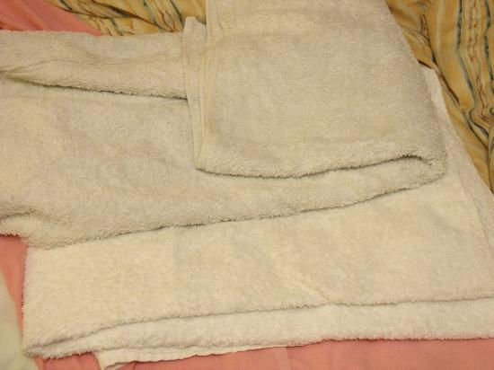Wheelgate Guest House: these towels were supposed to be white