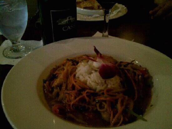 Misto Bar and Grill: Thai shrimp special