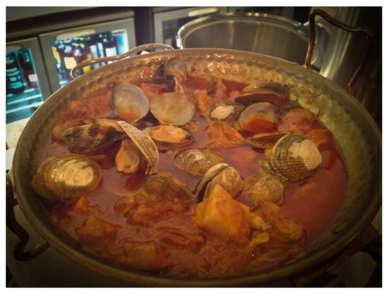 Eyre Brothers: cataplana of pork and clams