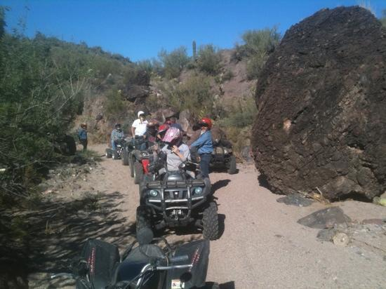 Rancho de los Caballeros: ATV tour at the ranch