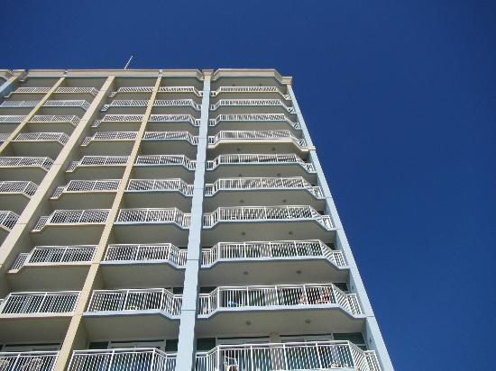 Holiday Sands South: condo building from the ocean