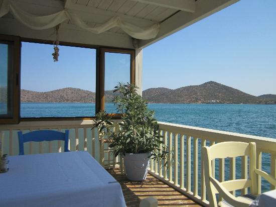 Melissos: Daytime view on the pontoon.