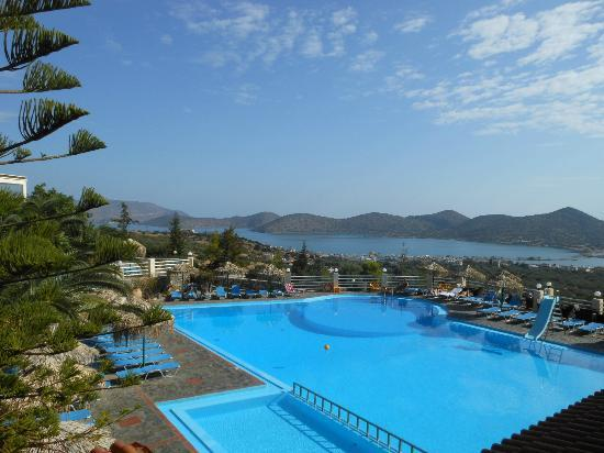 Elounda Water Park Residence: View from room 1 balcony. (Beautiful!)