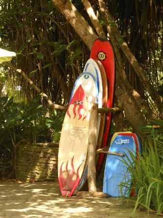 Latitude 10 Beachfront Resort: Surf boards