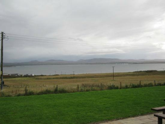 Kentraw Farmhouse: View from the farmhouse across the bay to Bowmore