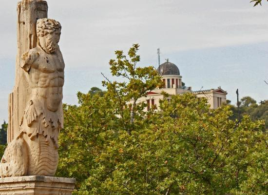 Ancient Agora of Athens: Statue and Observatory
