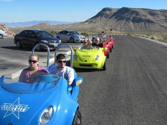 Scoot City Tours: Part of the group, about half way around the canyon road