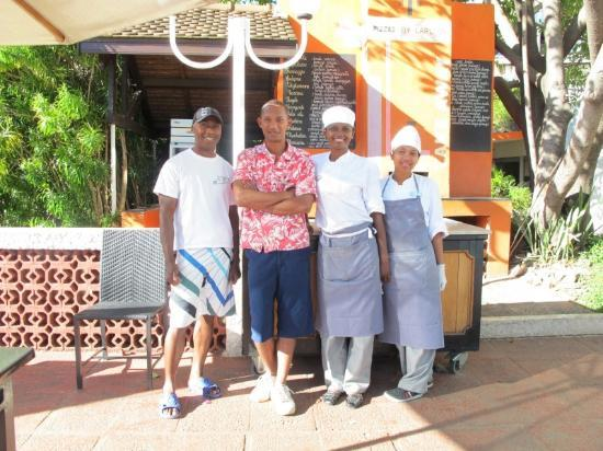 Hotel Carlton Antananarivo Madagascar: Pizza restaurant service team at the Carlton