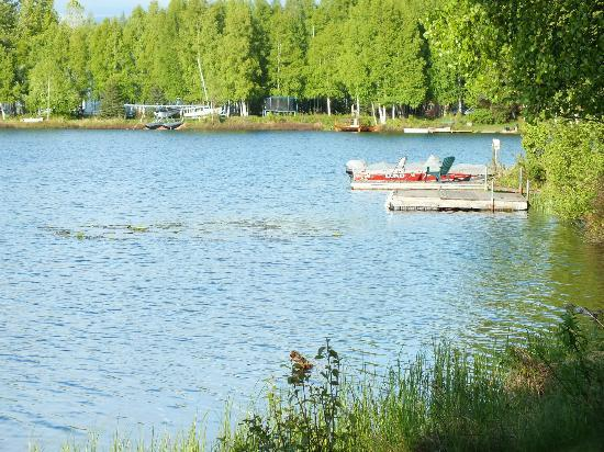 A Lakeside Bed and Breakfast: view on the sand lake from private stage