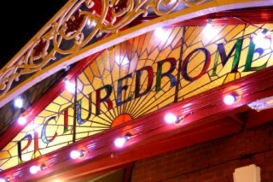 Picturedrome Cinema: outside at night