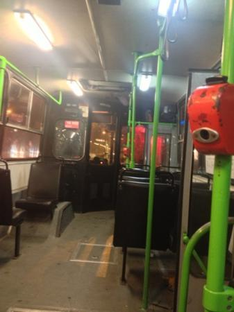 ‪إكسبو كونجرس هوتل: how bus line 100 look inside , this is the bus to the hotel