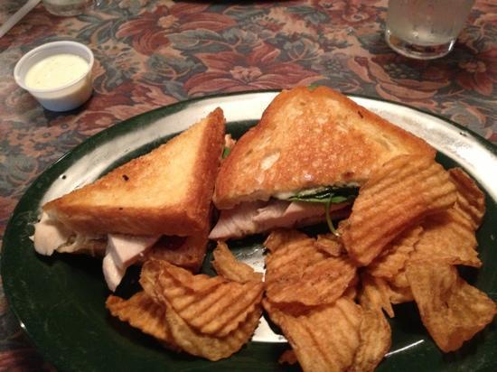 Foggy Rock Eatery and Pub: Turkey Cranberry sandwich