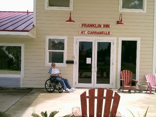 Franklin Inn: my father in law during hurricane evaculation