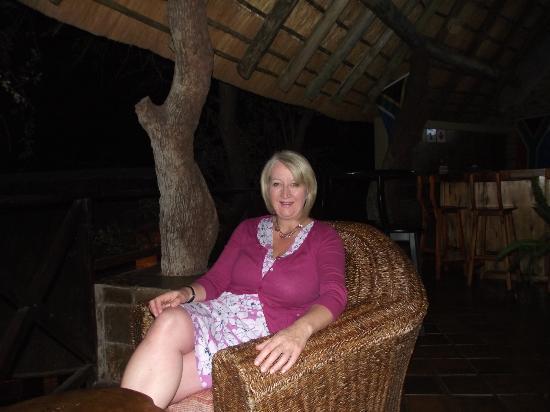 Crocodile Kruger Safari Lodge: Enjoying the cool evening