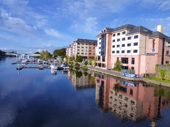 Radisson Blu Hotel, Athlone: view from bridge