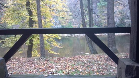 Clear Creek State Park: view from porch.