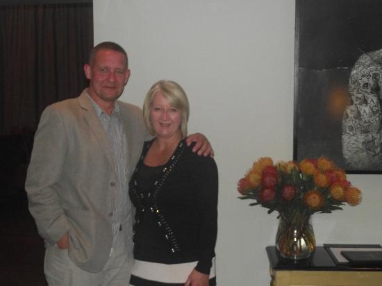 Asara Wine Estate & Hotel: Bruce & I after our engagement meal
