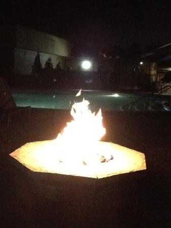 Atlanta Marriott Century Center/Emory Area: fire ring next to the pool