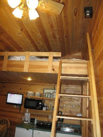 Mountain View Lodge & Cabins: The ladder up to the nook