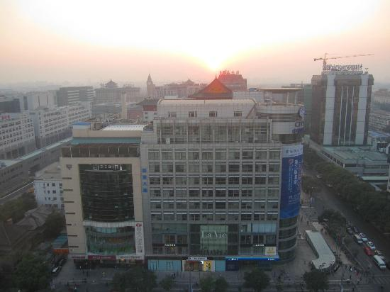 Legendale Hotel Beijing: View from our room at sunset