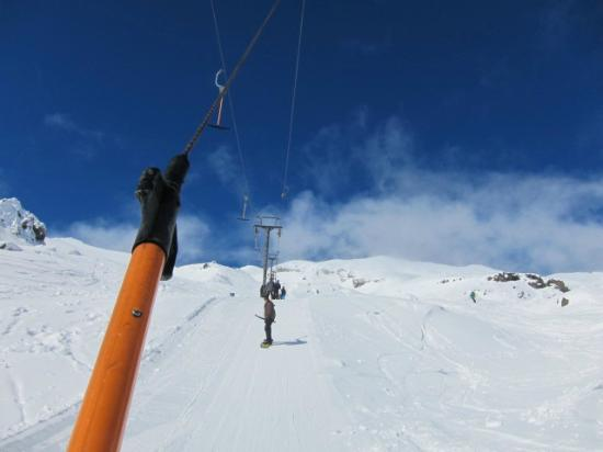 Whakapapa Ski Resort: Tバー主体です
