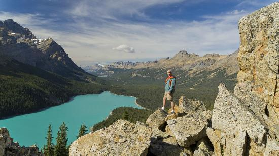 Peyto Lake: Great view of the lake away from the viewing platform.